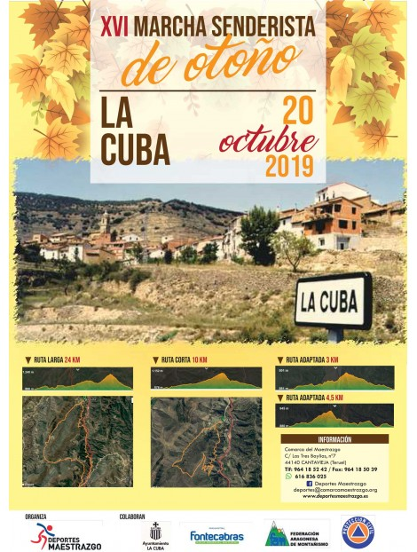 Marcha senderista de otoño LA CUBA
